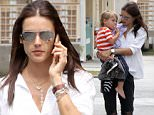 Picture Shows: Alessandra Ambrosio  May 04, 2015\n \n Victoria's Secret model Alessandra Ambrosio runs errands with her son Noah in Santa Monica, California. Perhaps Alessandra was prepping for a party today, since Noah's third birthday is coming up this Thursday!\n \n Non Exclusive\n UK RIGHTS ONLY\n \n Pictures by : FameFlynet UK © 2015\n Tel : +44 (0)20 3551 5049\n Email : info@fameflynet.uk.com