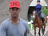 Iggy Azalea horse back riding in Calabasas while boyfriend Nick Young watches with his son. The singer was learning a bit of tricks from the care taker while she rides...Featuring: Nick Young..Where: Calabasas, California, United States..When: 06 May 2015..Credit: Cousart/JFXimages/WENN.com