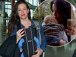 EXCLUSIVE: Liv Tyler and baby fly out of Heathrow Airport to New York after attending David Beckhams 40th birthday party in Marrakesh.  Pictured: Liv Tyler Ref: SPL1016480  050515   EXCLUSIVE Picture by: Splash News  Splash News and Pictures Los Angeles: 310-821-2666 New York: 212-619-2666 London: 870-934-2666 photodesk@splashnews.com