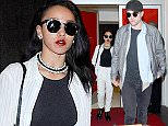 EXCLUSIVE: Robert Pattinson and fiancee FKA twigs, the adorable couple were seen sneaking through a VIP door at the LAX.  Pictured: Robert Pattinson and FKA twigs Ref: SPL1013416  050515   EXCLUSIVE Picture by:  Splash News / Splash News  Splash News and Pictures Los Angeles: 310-821-2666 New York: 212-619-2666 London: 870-934-2666 photodesk@splashnews.com
