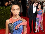 """NEW YORK, NY - MAY 04:  FKA twigs (L) and Robert Pattinson attends the """"China: Through The Looking Glass"""" Costume Institute Benefit Gala at the Metropolitan Museum of Art on May 4, 2015 in New York City.  (Photo by Jamie McCarthy/FilmMagic)"""