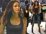 Megan Fox, Will Arnett and Stephen Amell were spotted filming scenes for their upcoming movie, 'Teenage Mutant Ninja Turtles: Half Shell'. Megan got her makeup done after every scene, while Arnett rehearsed his lines.  Pictured: Megan Fox Ref: SPL1018249  050515   Picture by: 247PAPS.TV / Splash News  Splash News and Pictures Los Angeles: 310-821-2666 New York: 212-619-2666 London: 870-934-2666 photodesk@splashnews.com