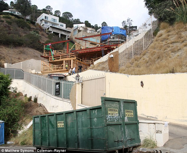 Razed to the ground: The Hollywood home where Brittany Murphy, her husband Simon Monjack and her mother Sharon Murphy all lived has been demolished