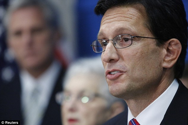 Critical: Rep. Eric Cantor of Virginia, the No. 2 House Republican, said the 'dysfunctional website' shows 'that ObamaCare is not ready for prime time'