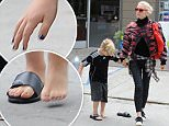 Gwen Stefani leaving a nail salon in West Hollywood with son Kingston Rossdale\nFeaturing: Gwen Stefani, Kingston Rossdale\nWhere: Los Angeles, California, United States\nWhen: 07 May 2015\nCredit: WENN.com