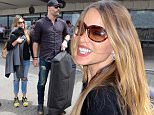 Sofia Vergara was escorted by Joe Manganiello through a crowd of fans and photographers at LAX.  She was reportedly asked about her frozen embryo entanglement and allegedly pushed a photographer, in a friendly way. The star was in jeans and shades, with her hair down, on Wednesday, May 6, 2015 X17online.com