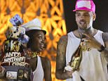Chris Brown celebrates his birthday in style after learning 'assault' case is to be dropped! Breezy held a birthday at Drais nightclub in Las Vegas which was attended by Floyd 'money' Mayweather. Chris celebrated by performing on stage and even was shown a video message from his kid on the big screen.  Chris gave away a bottle of 'Ace of Spades' champagne to a fan in the crowd as he celebrated the night in style.  Pictured: Chris Brown Ref: SPL1018448  060515   Picture by: Splash News  Splash News and Pictures Los Angeles: 310-821-2666 New York: 212-619-2666 London: 870-934-2666 photodesk@splashnews.com