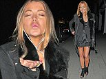 8 May 2015  - LONDON  - ENGLAND *** EXCLUSIVE PICTURES *** LINDSAY LOHAN IS ALL SMILES ON A NIGHT OUT IN LONDON AMIDST REPORTS THAT THE TROUBLED STAR HAS ONLY COMPLETED 9 HOURS AND 45 MINUTES OF HER SENTENCED 125 HOURS OF COMMUNITY SERVICE.  MISS LOHAN DOESN'T SEEM TOO BOTHERED ABOUT THE FACT THAT SHE IS A WANTED WOMAN!! BYLINE MUST READ : XPOSUREPHOTOS.COM ***UK CLIENTS - PICTURES CONTAINING CHILDREN PLEASE PIXELATE FACE PRIOR TO PUBLICATION *** **UK CLIENTS MUST CALL PRIOR TO TV OR ONLINE USAGE PLEASE TELEPHONE  442083442007
