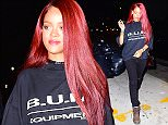 Rihanna was spotted heading into the recording studio in NYC in the early hours of Friday morning. Drake was already in the studio waiting for her arrival. She showed up with brand new long red locks, a throwback to her old hairstyle. She smiled happily as she headed inside.  Pictured: Rihanna Ref: SPL1019957  070515   Picture by: 247PAPS.TV / Splash News  Splash News and Pictures Los Angeles: 310-821-2666 New York: 212-619-2666 London: 870-934-2666 photodesk@splashnews.com