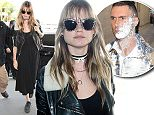 7 May 2015. Behati Prinsloo pictured at Los Angeles International Airport. Credit: BG/GoffPhotos.com   Ref: KGC-300/150507NR4  **UK, Spain, Italy, China Sales Only**