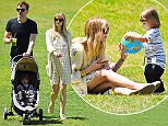 7.MAY.2015 - NEW YORK - USA ***AVAILABLE FOR UK AND GERMANY SALE ONLY *** IT WAS A FAMILY DAY FOR JAIME KING AND KYLE NEWMAN AS THE HAPPY COUPLE TOOK THEIR SON JAMES TO BATTERY PARK. A PREGNANT JAIME SHOWED OFF HER BURGEONING BABY BUM IN A CROCHET MINI DRESS AND KNIT SWEATER, FINISHING OFF HER LOOK WITH GOLD METALLIC SLIP ONS. BYLINE MUST READ: XPOSUREPHOTOS.COM ***UK CLIENTS - PICTURES CONTAINING CHILDREN PLEASE PIXELATE FACE PRIOR TO PUBLICATION *** *UK CLIENTS MUST CALL PRIOR TO TV OR ONLINE USAGE PLEASE TELEPHONE 0208 344 2007*
