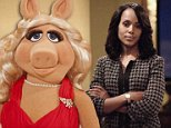 Miss Piggy and far of Kerry Washington.