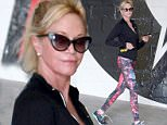 Beverly Hills, CA - Melanie Griffith is looking spacey leaving the gym in her space patterned leggings, with a black jacket and black shoes.\nAKM-GSI          May 7, 2015\nTo License These Photos, Please Contact :\nSteve Ginsburg\n(310) 505-8447\n(323) 423-9397\nsteve@akmgsi.com\nsales@akmgsi.com\nor\nMaria Buda\n(917) 242-1505\nmbuda@akmgsi.com\nginsburgspalyinc@gmail.com
