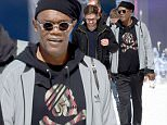 Mandatory Credit: Photo by MCPIX/REX Shutterstock (4760654b)\n Samuel L Jackson is pictured walking in the fake snow\n 'Miss Peregrine's Home for Peculiars' on set filming, Blackpool, Britain - 07 May 2015\n Tim Burton bought snow and a strange collection of characters for his latest movie 'Miss Peregrine's Home for Peculiars'\n
