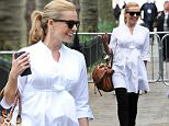 EXCLUSIVE ALL ROUNDER Katherine Jenkins pregnant with her first child is seen hard at work at rehearsals for the VE day 70th celebration concert at horse guards parade london, katherine looked great in a baggy white top which still showed her baby bump.\n8 May 2015.\nPlease byline: Vantagenews.co.uk