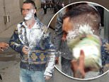 Hollywood, CA - Adam Levine gets powder bombed as he greets his fans at 'Jimmy Kimmel Live' in Hollywood. The prankster was caught at the scene and placed under arrest as Adam regained composure and went inside to clean up before his live performance.\nAKM-GSI    May  6, 2015\nTo License These Photos, Please Contact :\nSteve Ginsburg\n(310) 505-8447\n(323) 423-9397\nsteve@akmgsi.com\nsales@akmgsi.com\nor\nMaria Buda\n(917) 242-1505\nmbuda@akmgsi.com\nginsburgspalyinc@gmail.com