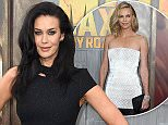 """HOLLYWOOD, CA - MAY 07:  Actress Megan Gale attends the premiere of Warner Bros. Pictures' """"Mad Max: Fury Road"""" at TCL Chinese Theatre on May 7, 2015 in Hollywood, California.  (Photo by Frazer Harrison/Getty Images)"""