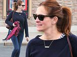 Julia Roberts was spotted coming out of the movies in Malibu.  The actress was with her daughter, Hazel, and paused briefly to chat with fans who spotted her, on Friday, May 8, 2015   X17online.com