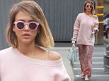 """Picture Shows: Jessica Alba  May 08, 2015\n \n 'Machete' star Jessica Alba heads to a meeting at a studio in Los Angeles, California.\n \n Jessica recently talked to Refinery 29 about the pros of her company, The Honest Company. """"I think being 'eco' or 'green' has a stigma. I feel like people think they need to be so completely yoga-ed out, making potions in their backyard, and being vegan. But, I think we gave them a pathway to live a healthier life without them being so extreme, and we have a very accessible way of doing that.""""\n \n Non Exclusive\n UK RIGHTS ONLY\n \n Pictures by : FameFlynet UK © 2015\n Tel : +44 (0)20 3551 5049\n Email : info@fameflynet.uk.com"""