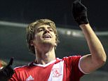 FILE PHOTO: Patrick Bamford insists it's still his dream to stay at his parent club long term to earn first Chelsea call-up Middlesbrough's Patrick Bamford (right) celebrates scoring his sides first goal of the game ... Soccer - Sky Bet Championship - Derby County v Middlesbrough - iPro Stadium ... 17-03-2015 ... Derby ... United Kingdom ... Photo credit should read: Simon Cooper/Unique Reference No. 22521795 ...
