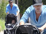 Picture Shows: Josh Duhamel  May 09, 2015\n \n 'Battle Creek' actor Josh Duhamel takes his son Axl for a walk in Brentwood, California. Josh's show 'Battle Creek' has officially been cancelled but Josh doesn't look too upset about the cancellation. \n \n Non-Exclusive\n UK RIGHTS ONLY\n \n Pictures by : FameFlynet UK © 2015\n Tel : +44 (0)20 3551 5049\n Email : info@fameflynet.uk.com