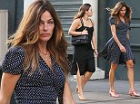 Sunday, May 10, 2015 -Kelly Bensimon out with daughter, Sea with serious bags under her eyes looking exhausted while walking in Soho in NYC