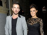 Mandatory Credit: Photo by MCPIX/REX_Shutterstock (4432877d).. Kym Marsh and Dan Hooper.. Kym Marsh out and about, Manchester, Britain - 14 Feb 2015.. Kym Marsh and fiance Dan Hooper went to Rosso Restaurant for a romantic Valentine dinner only for them to bump into Kym's ex lover Oliver Mellor and his new fiancee page 3 girl Rhian Sugden...