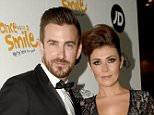 Mandatory Credit: Photo by MCPIX/REX_Shutterstock (4743458b).. Kym Marsh and boyfriend Dan Hooper.. Once Upon a Smile charity ball, Manchester, Britain - 02 May 2015.. ..