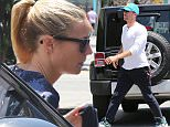 Sunday, May 10, 2015 - Gwyneth Paltrow and Chris Martin reunite for Mother's Day for their kids Apple and Moses at Ivy On The Shore in Santa Monica