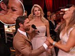 "LOS ANGELES, CA ¿ May 11, 2015: Dancing with The Stars\nThe four remaining couples perform dances that include a Viennese waltz, the quickstep, contemporary, and the Argentine tango. Noah Galloway proposes to his girlfriend live after his first dance (she accepts).\nNoah Galloway, Robert Herjavec, Patti LaBelle, Nastia Liukin, Riker Lynch, Charlotte McKinney, Redfoo, Michael Sam, Willow Shields, Suzanne Somers Chris Soules, and Rumer Willis, all compete for this season's title. \nU.S. reality show hosted by Tom Bergeron and Erin Andrews; Julianne Hough, Bruno Tonioli, Carrie Ann Inaba, and Len Goodman make up the judges panel, based on the British series ""Strictly Come Dancing,"" where celebrities partner up with professional dancers and compete against each other in weekly elimination rounds to determine a winner.\n"
