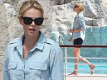 12.MAY.2015 - CANNES - FRANCE *** AVAILABLE FOR UK SALE ONLY *** ACTRESS CHARLIZE AND HER SON JACKSON ENJOY SOME TIME TOGETHER AT THE HOTEL DU CAP EDEN-ROC AHEAD OF THE 68TH INTERNATIONAL CANNES FILM FESTIVAL IN FRANCE. BYLINE MUST READ : XPOSUREPHOTOS.COM ***UK CLIENTS - PICTURES CONTAINING CHILDREN PLEASE PIXELATE FACE PRIOR TO PUBLICATION *** **UK CLIENTS MUST CALL PRIOR TO TV OR ONLINE USAGE PLEASE TELEPHONE 0208 344 2007**
