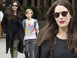 Mandatory Credit: Photo by Startraks Photo/REX Shutterstock (4767145d)\n Liv Tyler and Milo Langdon\n Liv Tyler out and about, New York, America - 11 May 2015\n Liv Tyler walking her son to school\n