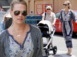 ***MANDATORY BYLINE TO READ INFPhoto.com ONLY***\nMolly Sims steps out for lunch with her newborn baby daughter Scarlett Stuber along in Beverly Hills, California.\n\nPictured: Molly Sims\nRef: SPL1023177  110515  \nPicture by: Fresh/INFphoto.com\n\n