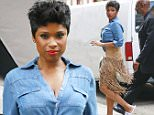 Jennifer Hudson wears a denim top and fringe skirt while doing a photo shoot in the Meatpacking District in New York City.\n\nPictured: Jennifer Hudson\nRef: SPL1023305  120515  \nPicture by: Splash News\n\nSplash News and Pictures\nLos Angeles: 310-821-2666\nNew York: 212-619-2666\nLondon: 870-934-2666\nphotodesk@splashnews.com\n