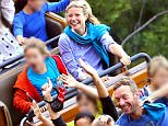**WEB ONLY**\nSplash News and Pictures\nEXCLUSIVE: \nGwyneth Paltrow and Chris Martin celebrate their daughter Apple's birthday at Disneyland, the couple seem very happy spending time as a family. The two exes rode rides with their children and Gwyneth even rocked a pair of Mickey ears.\nThe happy family were seen riding the big thunder mountain rollercoaster together followed by Splash Mountain. They were also seen riding indoor rights like the hollywood tower of terror, pirates of the carribean, and the Indiana Jones ride.\n(Picture taken: 09/05/2015)\n-----------------------------------\nFor further sales information please contact our sales teams at sales@splashnews.com