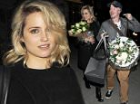Picture Shows: Dianna Agron  May 12, 2015\n \n 'Glee' actress Dianna Agron and her co-star, Stephen Wright, seen leaving the St James Theatre after their opening night performance of 'McQueen'. The play is about a girl who breaks into Alexander McQueen's house to steal a dress and is caught by the fashion designer.\n \n Non Exclusive\n WORLDWIDE RIGHTS\n \n Pictures by : FameFlynet UK © 2015\n Tel : +44 (0)20 3551 5049\n Email : info@fameflynet.uk.com