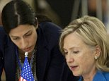 At least three top Hillary Clinton aides used email addresses hosted on the former secretary of state's private server while she was in office, according to reports from two different news outlets. A conservative magazine reported Wednesday that Clinton's State Department chief and deputy chief of staff both had the private addresses. 'Two of Hillary Clinton's top aides used personal email while they were employed at the State Department,' Weekly Standard senior writer Stephen Hayes said in a Fox News Channel interview, naming 'Huma Abedin and Cheryl Mills, Hillary Clinton's chief of staff.' 'The State Department has evidence of this,' Hayes claimed.   tom fitton