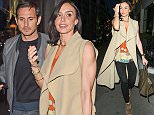 EXCLUSIVE TO INF.\nMay 12, 2015: Christine Bleakley seen out with her fiancÈ, Manchester City FC star Frank Lampard for dinner at Sumosan Japanese restaurant in Mayfair, London. Former Chelsea and England player Lampard will be leaving the UK in a few weeks to join Major League Soccer in the US, playing for New York City FC on a two-year contract. He and Bleakley have been spotted looking for property in Manhattan recently.\nMandatory Credit: INFphoto.com Ref.: infuklo-146/195