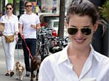Mandatory Credit: Photo by ACE Pictures/REX Shutterstock (4770923b)\n Anne Hathaway, Adam Shulman\n Anne Hathaway and Adam Shulman out and about, New York, America - 13 May 2015\n \n