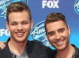 Mandatory Credit: Photo by Jim Smeal/BEI/REX Shutterstock (4770974bu)  Clark Beckham and Nick Fradiani  'American Idol Season Finale', Los Angeles, America - 13 May 2015