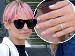 EXCLUSIVE. Coleman-Rayner. Los Angeles, CA\nMay 11, 2015\nNicole Richie steps out with her wedding ring ON as she films with a camera crew in LA. The reality star, mother-of-two and designer wife of rocker Joel Madden - currently at the center of divorce rumors - has dyed her hair bright pink and appears to have cut her hair to a shorter length. She also showed off her long legs in skimpy shorts.\nCREDIT LINE MUST READ: Jeff Rayner/Coleman-Rayner\nTel US 001 323 687 8025 - Mobile\nTel US 001 310 474 4343 - Office\n