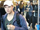 10 MAY 2015 SYDNEY AUSTRALIA\nEXCLUSIVE PICTURES\nBackstreet Boys Kevin Richardson and Nick Carter pictured with his wife Lauren Kitt jetting out of Sydney.