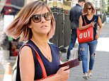 EXCLUSIVE ALL ROUNDER Caroline Flack pictured out and about in London. The new X Factor presenter showed off her new peach hair colour as she arrived at a studio.\n13 May 2015.\nPlease byline: KP/Vantagenews.co.uk