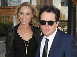 Celebrities arrive for the Robin Hood Foundation Annual Benefit held at the Jacob Javits Center in NYC.  Pictured: Tracy Pollan and Michael J. Fox Ref: SPL1023504  120515   Picture by: Johns PKI/Splash News  Splash News and Pictures Los Angeles: 310-821-2666 New York: 212-619-2666 London: 870-934-2666 photodesk@splashnews.com