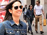 NEW YORK, NY - MAY 13:  Actors Jennifer Connelly and Paul Bettany are seen walking in Soho on May 13, 2015 in New York City.  (Photo by Raymond Hall/GC Images)