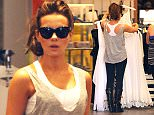 Beverly Hills, CA - Actress Kate Beckinsale hits up the Alice + Olivia boutique this afternoon to do some shopping.  The brunette beauty looked effortless in a grey tank and leggings with her hair pulled back in a pony tail. AKM-GSI          May 13, 2015 To License These Photos, Please Contact : Steve Ginsburg (310) 505-8447 (323) 423-9397 steve@akmgsi.com sales@akmgsi.com or Maria Buda (917) 242-1505 mbuda@akmgsi.com ginsburgspalyinc@gmail.com