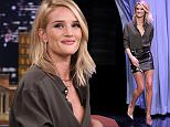 THE TONIGHT SHOW STARRING JIMMY FALLON -- Episode 0262 -- Pictured: Model Rosie Huntington-Whiteley arrives on May 13, 2015 -- (Photo by: Douglas Gorenstein/NBC/NBCU Photo Bank via Getty Images)