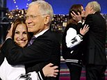 NEW YORK - MAY 13: Actress Julia Roberts makes her final visit to the Late Show with David Letterman, Wednesday May 13, 2015 on the CBS Television Network. (Photo by Jeffrey R. Staab/CBS via Getty Images)