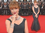"""CANNES, FRANCE - MAY 14:  Jane Seymour attends the """"Mad Max : Fury Road""""  Premiere during the 68th annual Cannes Film Festival on May 14, 2015 in Cannes, France.  (Photo by Venturelli/WireImage)"""