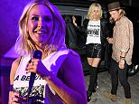 Ellie Goulding and Dougie Poynter arrive home after Ellie's intimate gig at Annabel's club. London. UK  Pictured:  Ellie Goulding, Dougie Poynter Ref: SPL1025247  130515   Picture by: RV / Splash News  Splash News and Pictures Los Angeles: 310-821-2666 New York: 212-619-2666 London: 870-934-2666 photodesk@splashnews.com